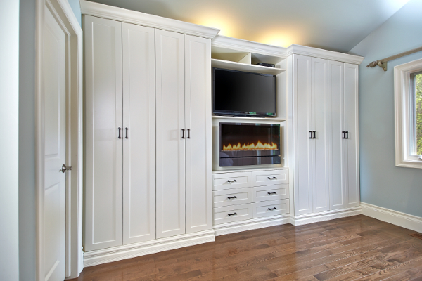 Wall unitfireplacecustom cabinetsarmoire antique white wardrobe