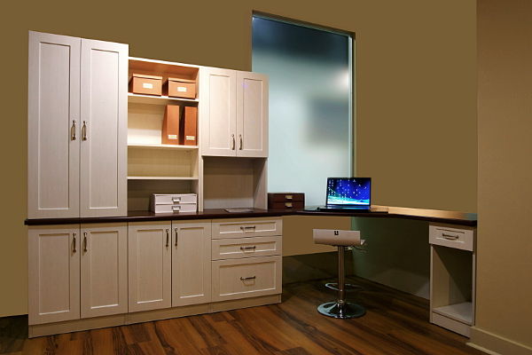home office unit. wall unitcustom cabinetrydesk antique whitewash home office unit