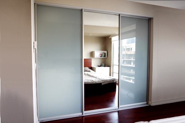 custom closet doors laminated glass mirror doors mirrored doors