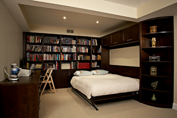 home office with murphy bed. Wall Bed,custom Cabinetry,basement Home Office With Murphy Bed A