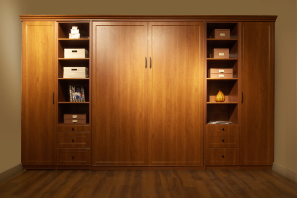 Attractive Wall Bed,custom Cabinetry,Armoire,Pillow Storage