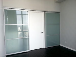 barn door, glass door