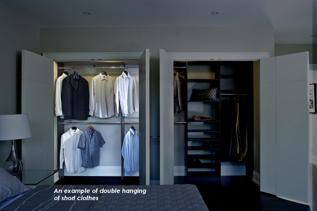 short hanging closet rods