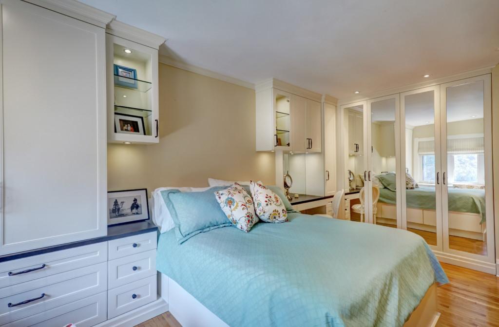 Antique white master bedroom