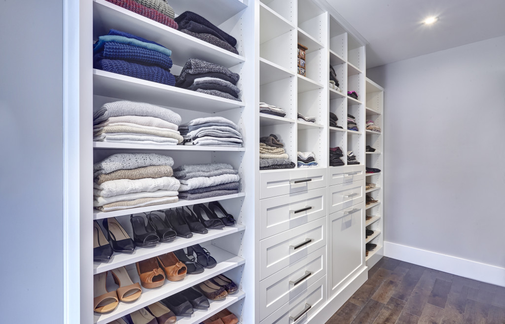shoe shelves, shoe storage, shaker drawers