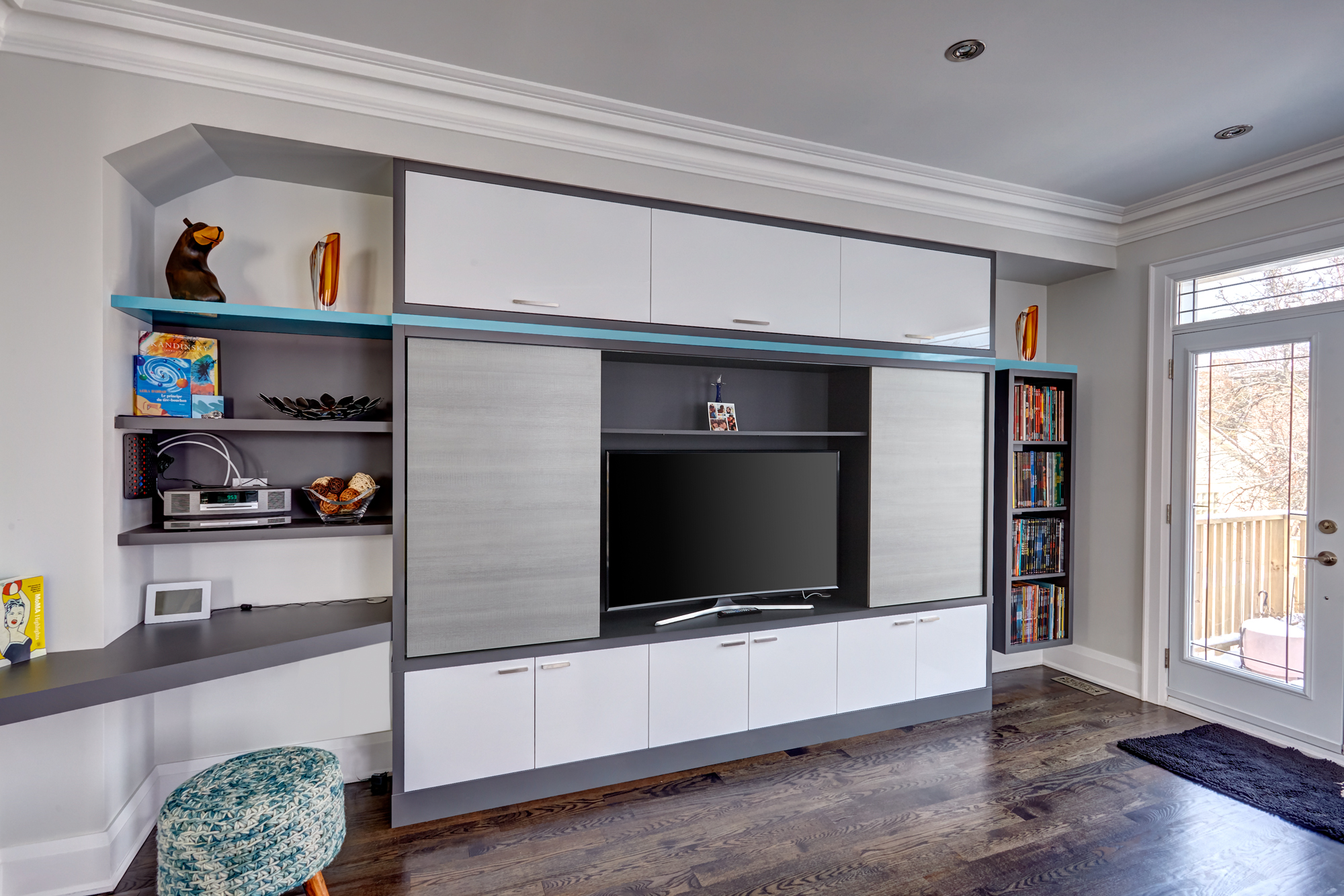 Great wall media center custom cabinet space solutions - Used living room furniture toronto ...