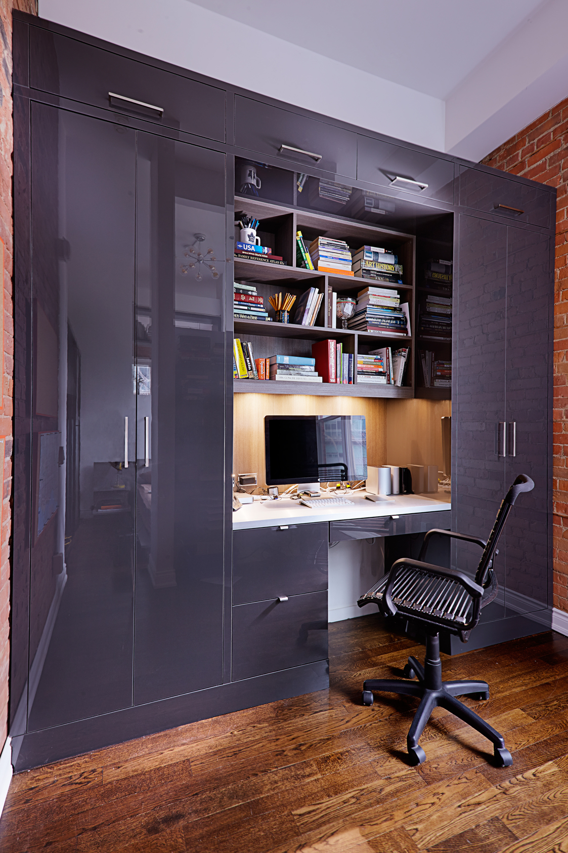 Liberty Village Loft Home Office And Bar Space Solutions By