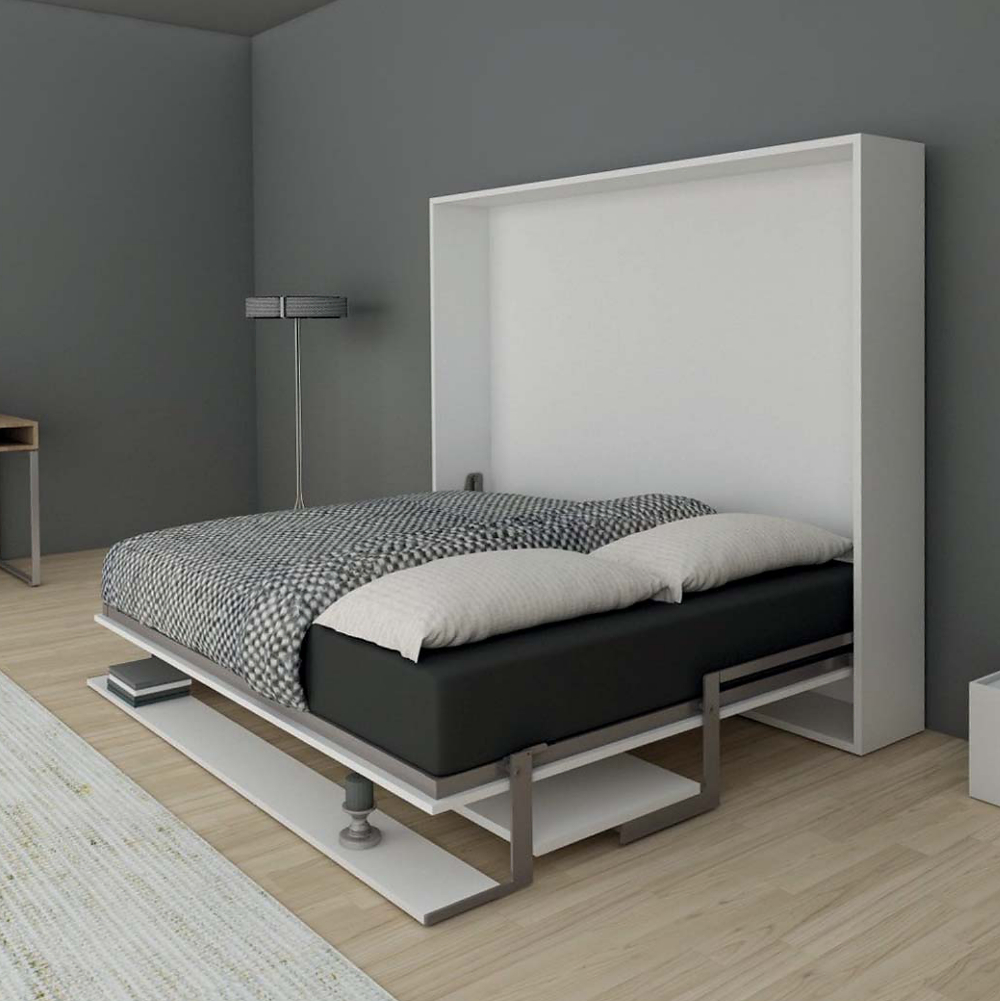 wall bed, murphy bed, resource furniture, bed with desk, condo bed, custom bed, folding bed, richelieu bed, Stella bed system, multifunctional bed