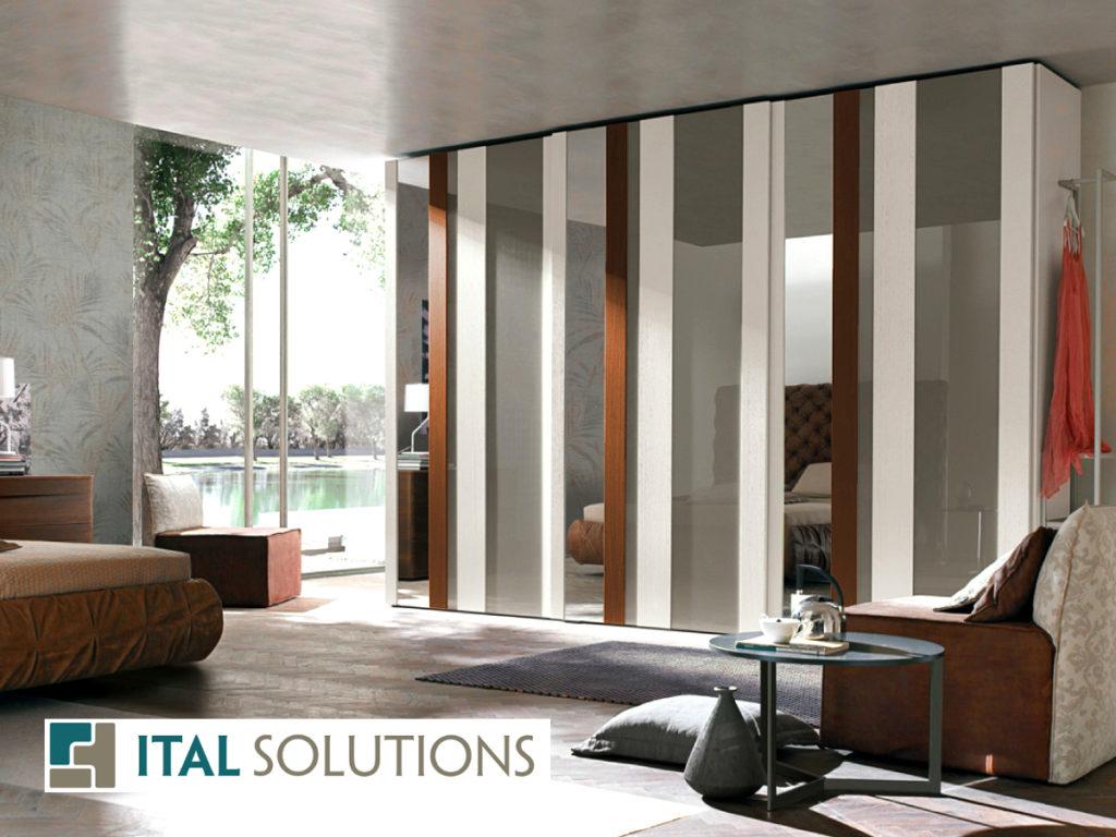 Gruppo Tomasella, bedroom, modern condo, interior design, Italian design, closet, Ital Solutions, Toronto condo