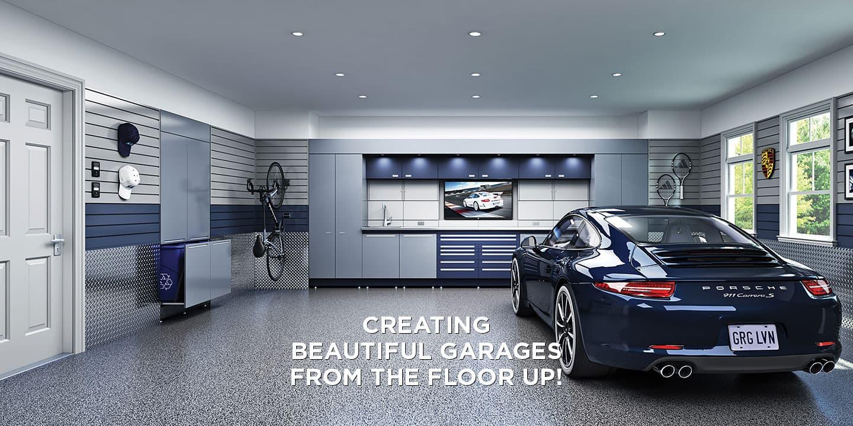 garage living; garage cabinet; garage flooring; custom garage storage